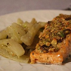 FILETTO DI SALMONE IN CROSTA DI PISTACCHI