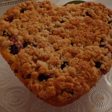 TORTA CRUMBLE PESCHE E MORE