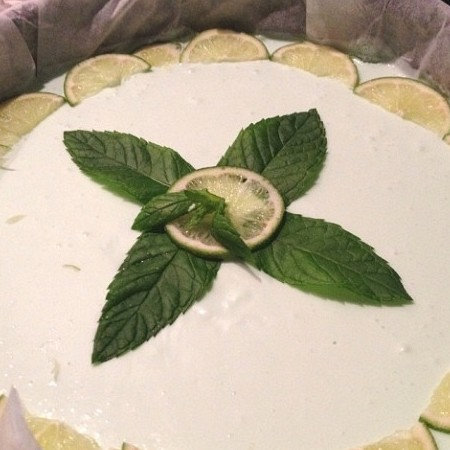 MOJITO & LIME CHEESECAKE